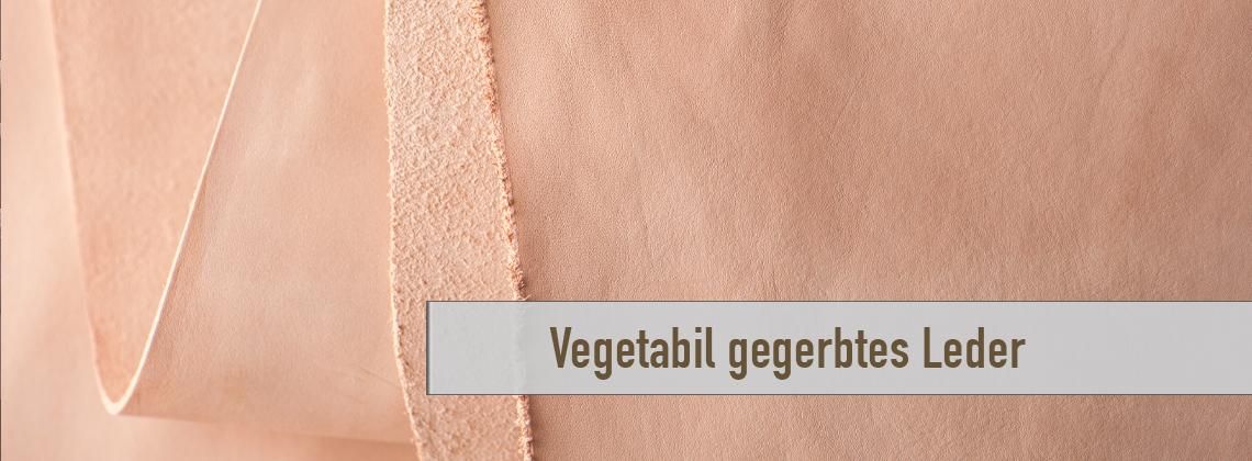 Vegetabil gegerbte Leder