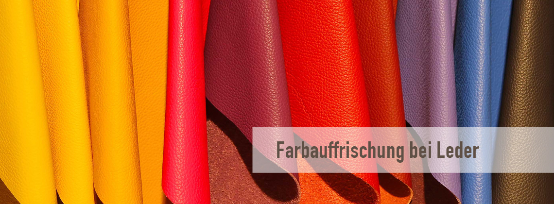 Refreshing the colour of leather